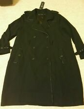 BNWT Women's Plus Size Mynt 1792.com Doppio Petto Trench/MAC Cappotto 4xl UK 28