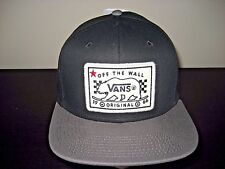 Vans Shoes Mens Bear Patch Black & Grey Snapback Hat Cap Adjustable Free Ship