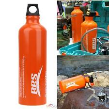 750ml Aluminum Alloy Fuel Bottle Oil Stove Flat Tank fr Survival Outdoor Camping