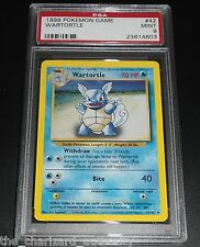 "Wartortle 42/102 PSA 9 MINT Base Set ERROR ""Evolution Box"" Misprint Pokemon Card"