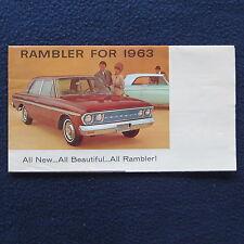 RAMBLER 1963 Dealer Brochure Fold Out Classic 6 Ambassador V-8 American EUC