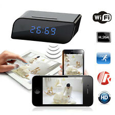 Wireless Wifi IP Spy Hidden HD 720P Camera Motion Sécurité Alarm Clock IR DV CAM