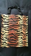 LADIES TIGER SKIN PP BAG, Shopper Style,2 Handles,Beach,Travel,Shopping,Storage.