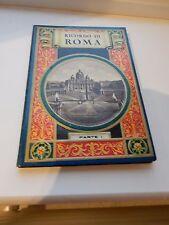 Era Art Deco Roma brillante colorido cubierta esconde enorme despliegue libro del cuadro