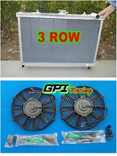 3ROW  aluminum RADIATOR +FAN FOR NISSAN SKYLINE S13 CA18 R32 RB20