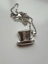 Alice Wonderland MAD HATTER In this Style 10/6 Charm Pendant Silver Necklace