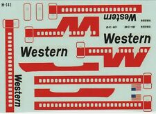 1/144 Scale Model Decal: Western Air Lines - Douglas DC-10 (for Revell H-141)