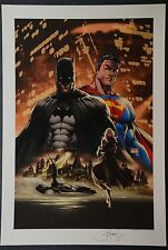 Superman Batman Michael Turner Aspen Art Print