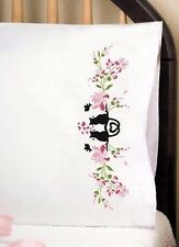 """Tobin Stamped Embroidery Pack 20"""" x 30"""" Pillowcases ~ CAT SILHOUETTE #232158"""