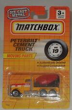 DIECAST MATCHBOX PETERBILT CEMENT TRUCK 1991 MB19 MOVING PART NRFP
