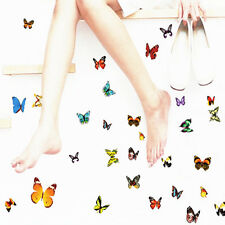 80Pcs/Sheet Removable Colorful Butterfly Wall Sticker Decal Home Decor Art Vinyl