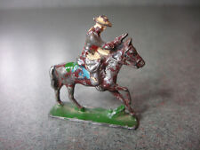 Old Vtg Antique Collectible Toy Cowboy With Gun On Horse Made In Japan