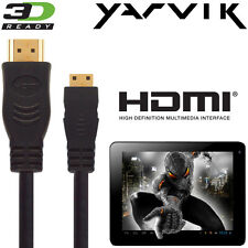 Yarvik GoTab, Xenta, Luna, AB310, 7, 10.1 Tablet PC HDMI TV 3M Cable de Alambre de plomo