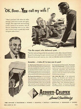 1951 vintage AD, Acousti-Celotex, sound conditioning, ceiling tiles -112113