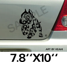 Pitbull Tribal Vinyl Decal Sticker Car Truck Window or Body Stickers, Decals 001