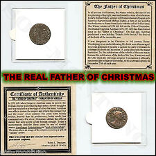 REAL FATHER OF CHRISTMAS - Antique Roman Pagan Coin AURELIAN EMPEROR 270-275 AD