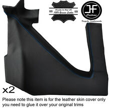 BLUE STITCH 2X REAR UPPER PANEL LEATHER COVER FITS RENAULT ALPINE GTA V6
