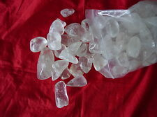 clear quartz tumble  1 kg   £12.50 free postage!