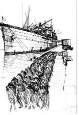 WW2 - CP - Dessin - Arrivée des troupes US en Grande-Bretagne
