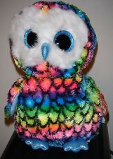 "Ty Beanie Boos Buddy ~ ARIA the 8-9"" Medium Size Owl - Claires Exclusive ~ NEW"