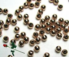 100  ea 14k ROSE GOLD FILLED 3mm SEAMLESS Round Beads