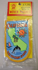 "COLLECT.. SOUVENIR IRON ON WOVEN PATCHES 2"" W X 3"" H CALIFORNIA THE GOLDEN STATE"