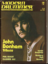 Modern Drummer **RARE VTG** John Bonham Tribute July 1984 Magazine Led Zeppelin