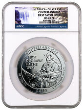 2016 5 Oz Silver ATB Cumberland Gap NGC MS69 PL First Day Issue SKU41019