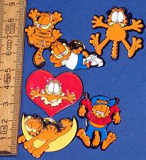 Garfield === 6 x pin familia Garfield === pins del gato
