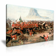 The Battle of Isandlwana Zulu War Canvas Wall Art Picture Print 76x50cm