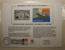 souvenir card PS 38 Stamp Coll Month 1981 1893 $5 Columbian 18¢ Show cancelled