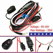 Car Relay Wiring Harness For HID LED Light Fog LAMP Conversion Kit switch ON OFF