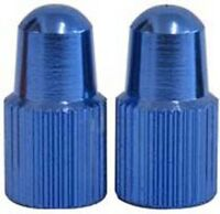 One23 Anodised Alloy Valve Caps Dust Covers MTB Bicycle Bike Presta Tyre Blue