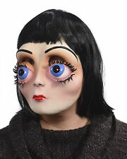 Big Eyes Creepy Funny Woman Doll Face Adult Halloween Mask