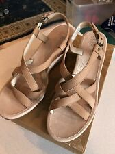 UGG Australia Gaiana Wedge Sandals tan Suede Shoes Size 12 US 42UK #1002683 NIB