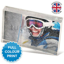"Personalised Acrylic Photo Glitter Block Picture Gift Present | 6 x 4"" Inch"