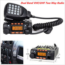 Car 136-174/400-480MHz Dual Band VHF/UHF Mobile Radio Transceiver Walkie Talkie
