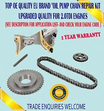 FOR AUDI A4 A6 SKODA SUPERB  2.0 TDI OIL PUMP CHAIN TENSIONER CRANK SPROCKET KIT