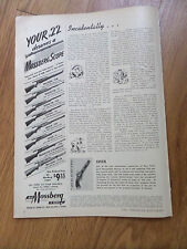 1949 Mossberg Scope Ad Your .22 Winchester Remington Stevens Marlin Savage