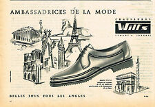 PUBLICITE ADVERTISING 114  1961  WILL'S   chaussures homme AMABSSADRICES