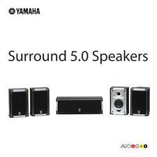 SAVE!! Yamaha NSAP5715 HD 5.0 Surround Home Theater Speakers. Black Wooden
