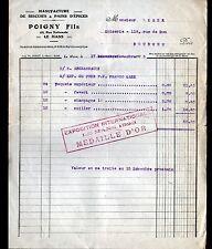"""LE MANS (72) USINE de BISCUITS & PAINS d'EPICES """"POIGNY Fils"""" en 1923"""
