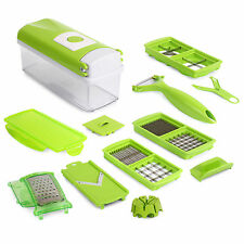 Functional Vegetable Fruit Nicer Slicer Dicer Cutter+Container Chopper Peeler