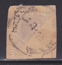 Spanish Colony 126a bisect used on piece nice color cv $ 50 ! see pic !