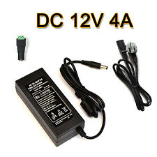 AU Plug to DC 12V 4A 48W Power Supply Adapter Charger for LED Strips Light