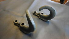 Jeep Willys MB GPW WWII USMC Rams Horn tow hooks pair