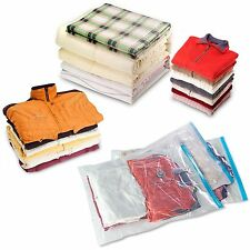 6 x Pack Vacuum Storage Space Saving Clothes Bags Bedding Wardrobe Luggage