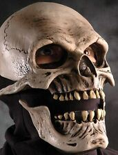 Deluxe Latex Moving Mouth Skull Of Death Skeleton Halloween Horror Costume Mask