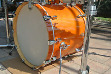 """ADD this LUDWIG 22"""" ACCENT CS CUSTOM BASS DRUM in AMBER to YOUR DRUM SET! #Y68"""