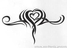 TRIBAL HEART INSIDE A HEART  SEXY Temporary Tattoo 9249